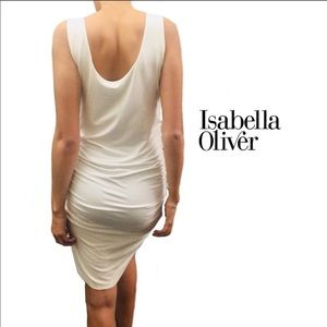 Isabella Oliver white tank dress US size 6 (2)